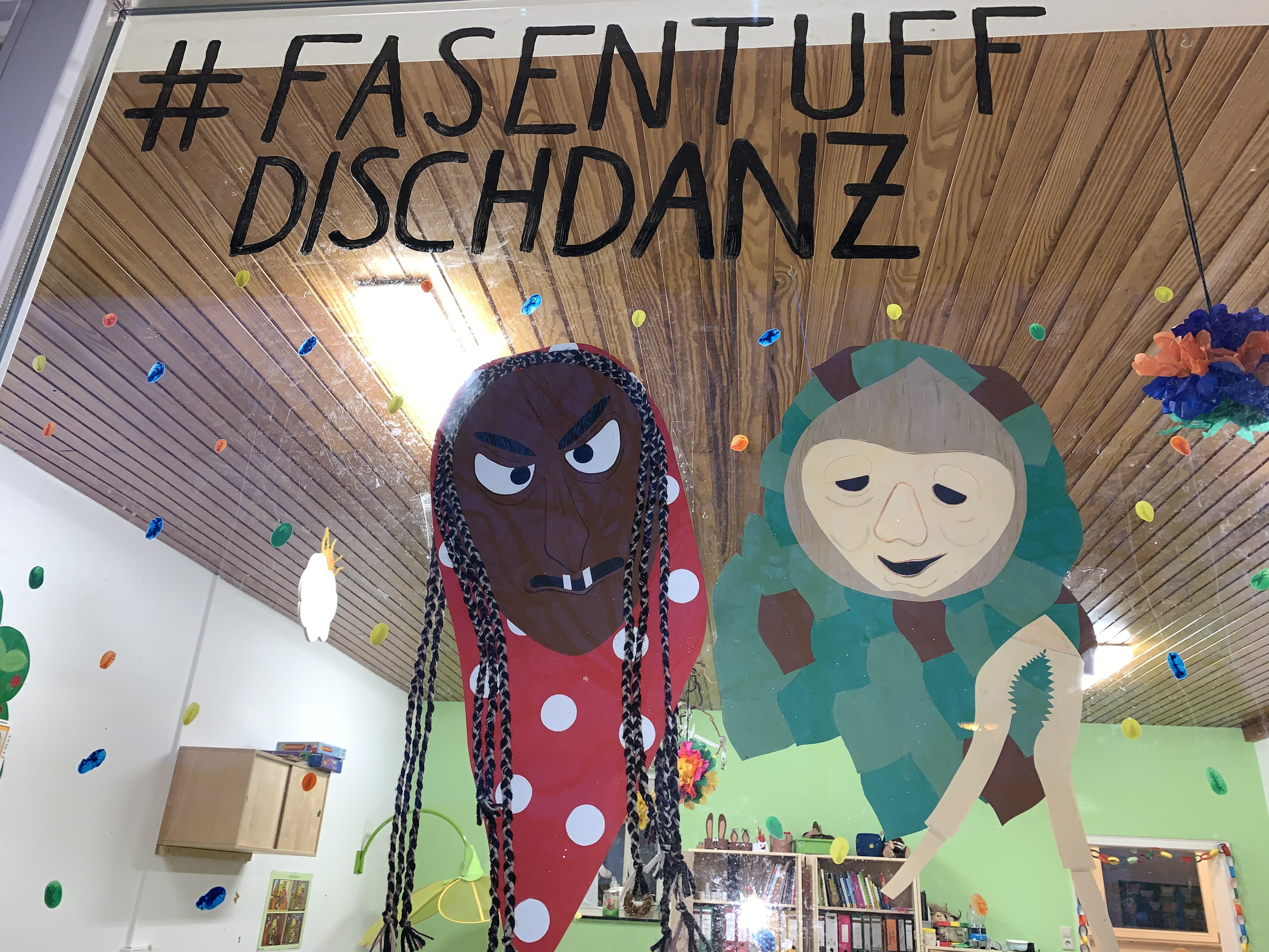 Fensterbild des Kindergarten St. Josef