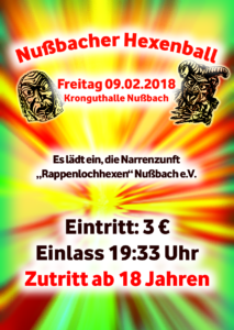 Werbegrafik Hexenball 2018